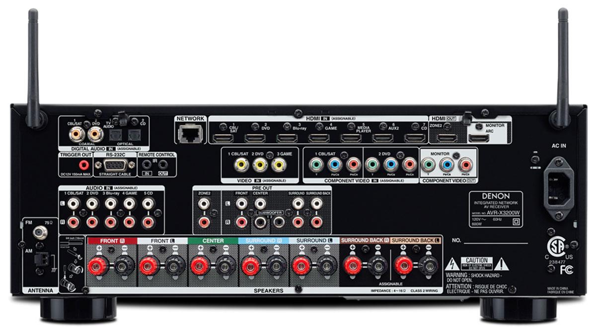 Buy Denon Avr X3200w 7 2 Channel 4k Ultra Hd Av Receiver