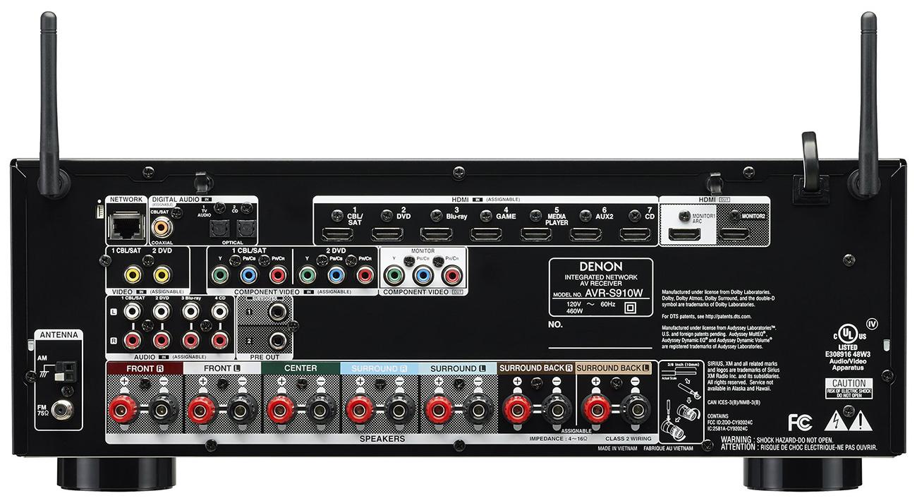 Buy Denon Avr S910w 7 2 Channel 4k Ultra Hd Av Receiver