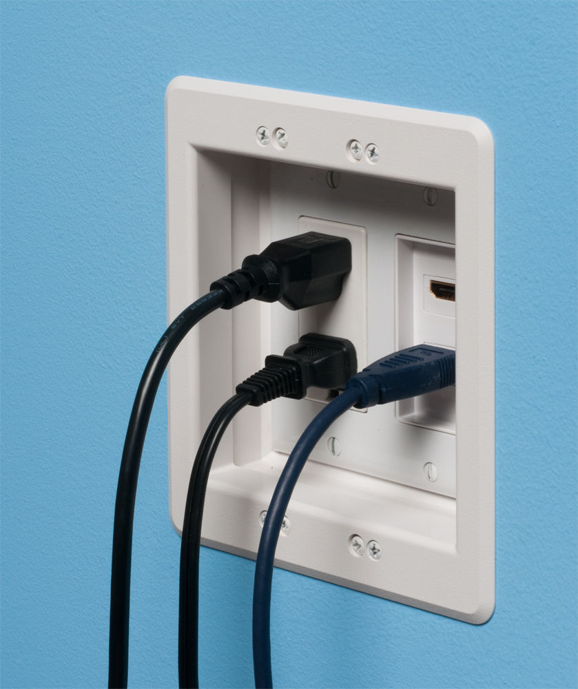 Buy Arlington Recessed Electrical Tv Box Wall Plate Kit
