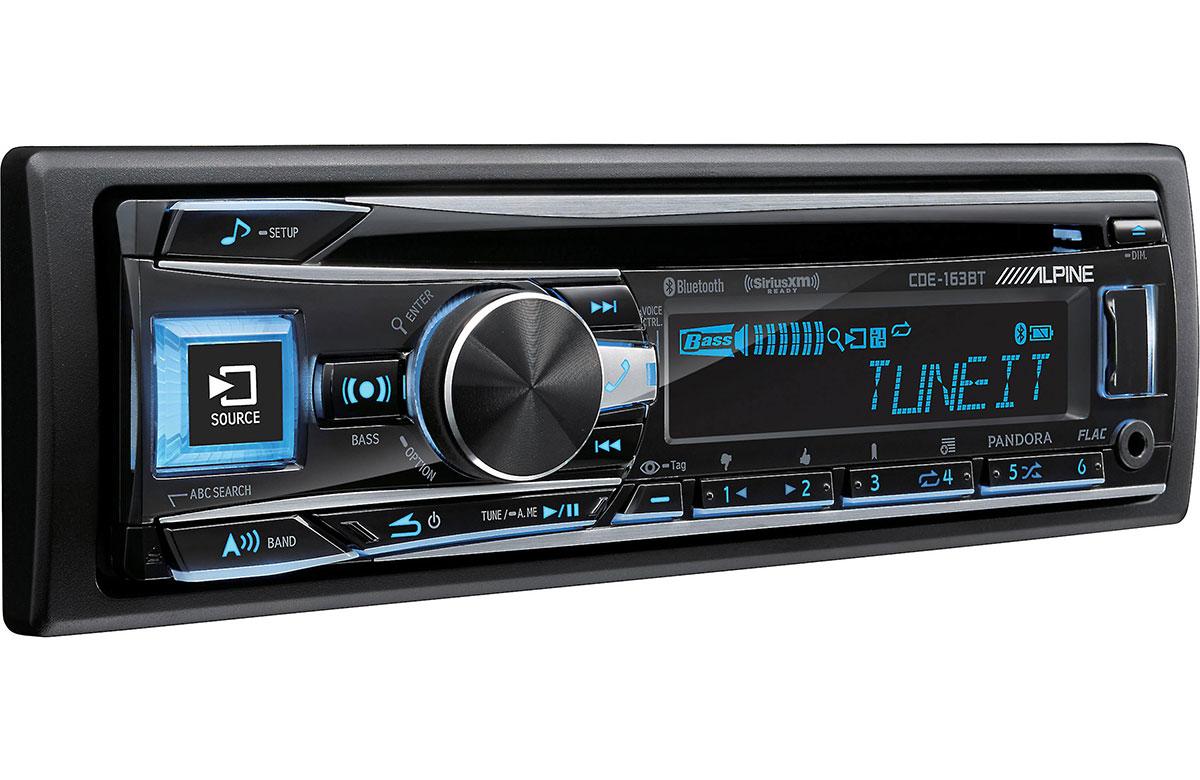 Land Rover Golf Cart >> Alpine CDE-163BT Advanced Bluetooth CD Receiver