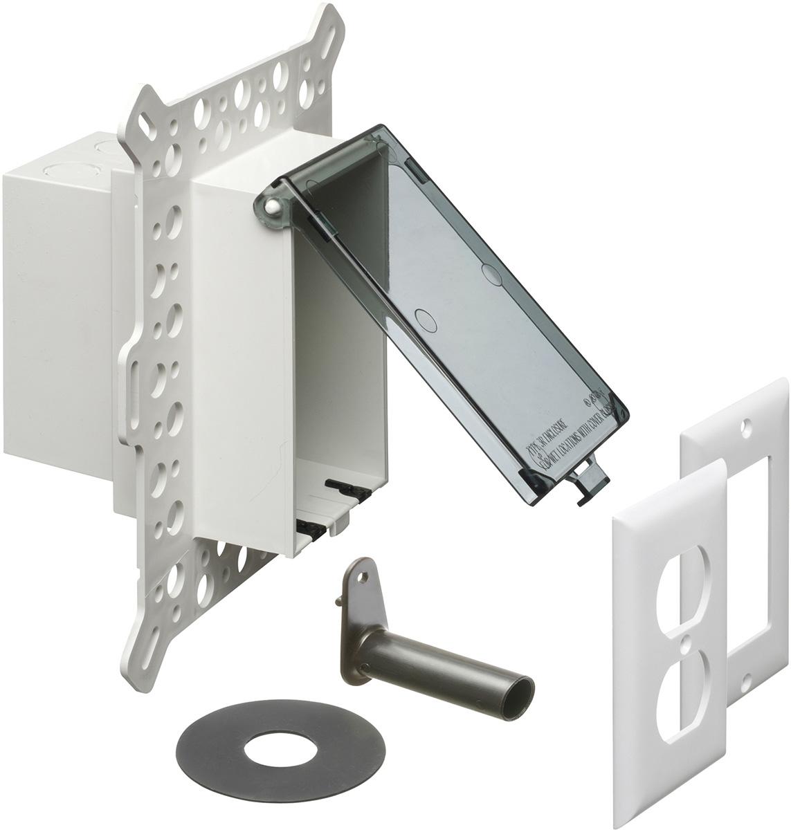 Electrical Weatherproof Lock Box: Arlington DBVM1C-1 Electrical Box With Weatherproof Cover