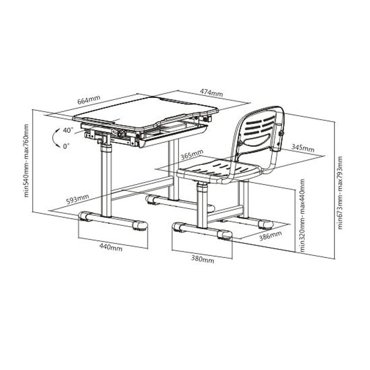 boost industries kidzdesk kd26b ergonomic height