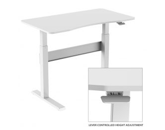 Boost Industries FS-OD47A-WH Air Lift Height Adjustable Office Desk sold online by AVGearShop.com