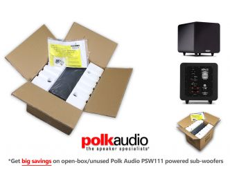 Buy Polk Audio PSW111 Powered Subwoofer, big savings on opened box stock that's never been used1