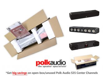 Polk Audio Signature S35 Slim Center Channel - Save big on open-box, untouched stock