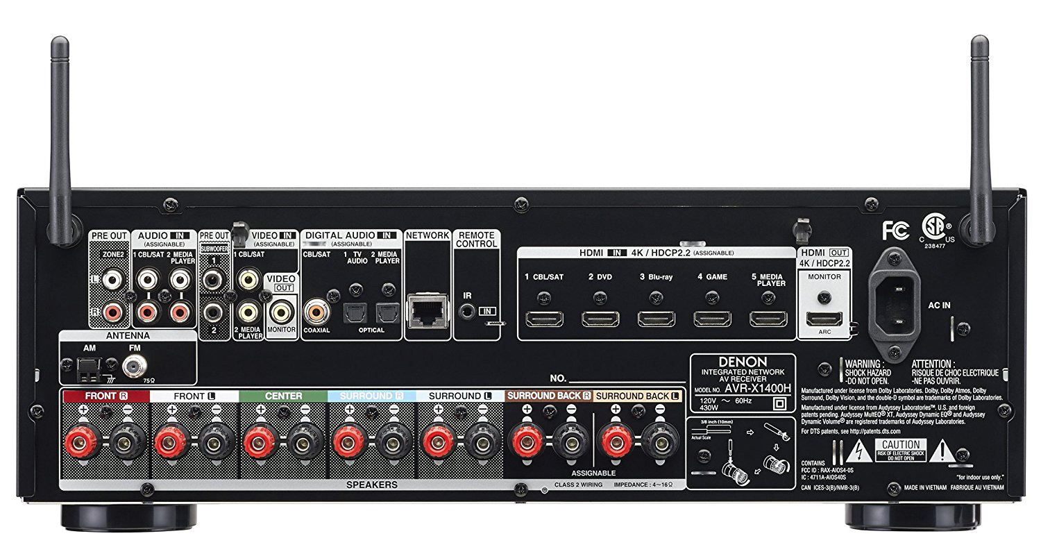 Denon Avr X1400h 7 2 Channel Network A V Receiver With