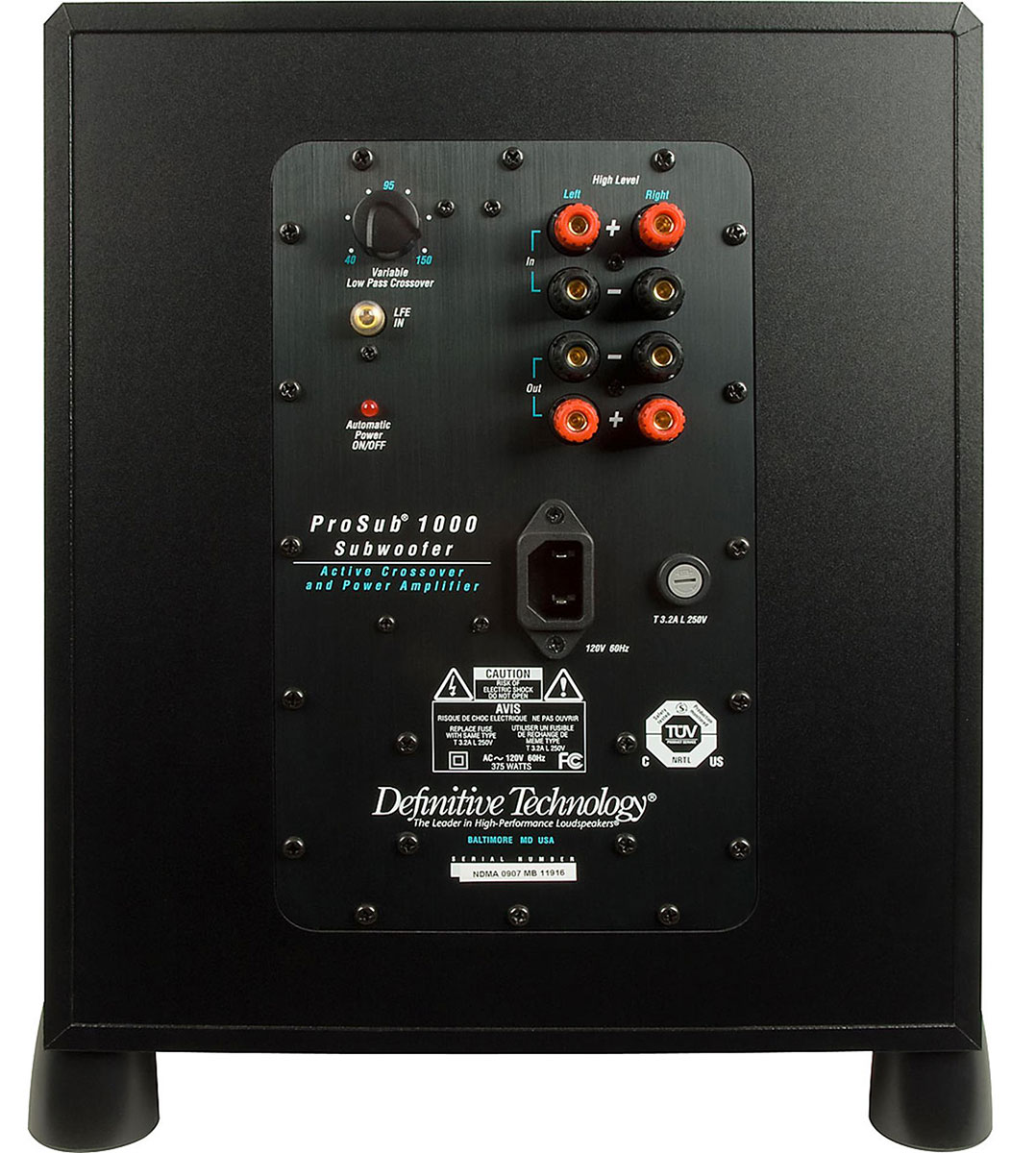 Definitive Technology Prosub1000 High Performance Compact