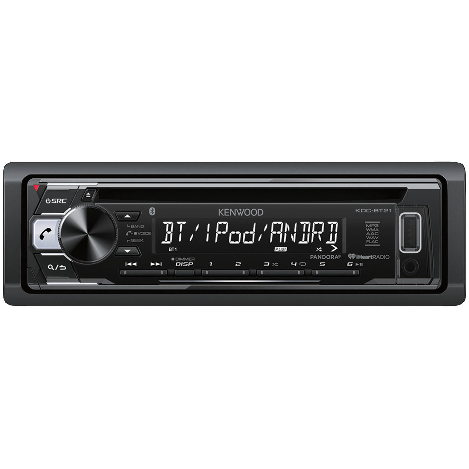 kenwood kdc-bt21 car stereo receiver with bluetooth