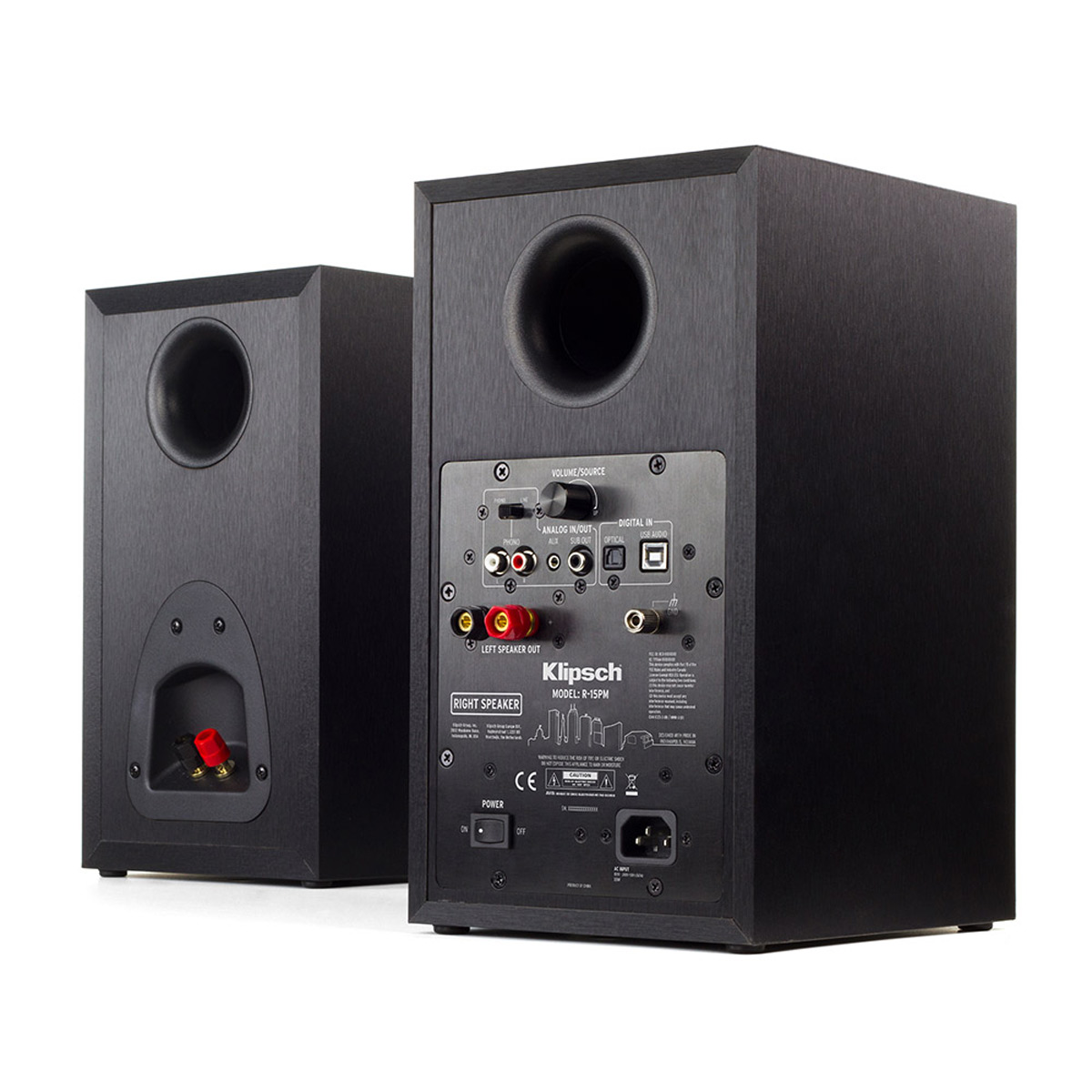 Klipsch R 15pm Reference Powered 5 Quot Bookshelf Speakers