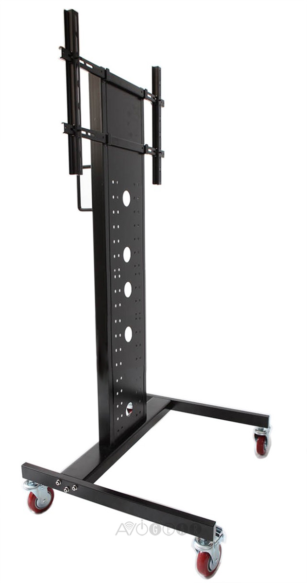 buy heavy duty mobile tv cart for 27 to 65 flat screens online for at. Black Bedroom Furniture Sets. Home Design Ideas