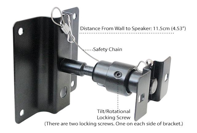 Buy Universal Wall Ceiling Steel Speaker Mount Brackets