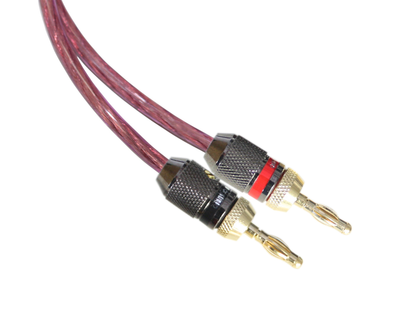 Audio Research 8AWG Translucent Red Pair of Speaker Wires with ...