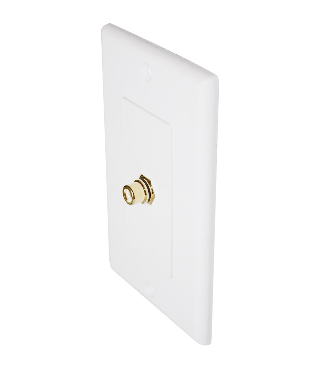 Buy subwoofer rca to rca pass through wall plate terminal online for at for Exterior wall cable pass through