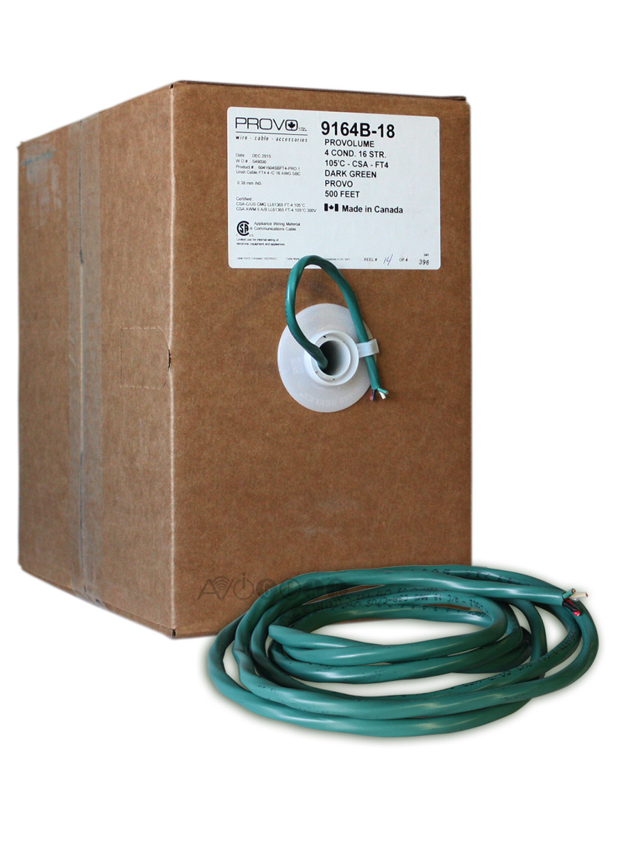 ThruSound Dark Green 16AWG 4-Conductor FT4 In-Wall Speaker Wire (500 ...