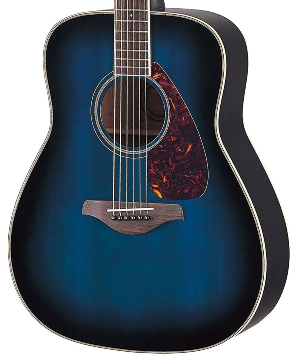 yamaha fg720s classical acoustic guitar (ocean blue burst)