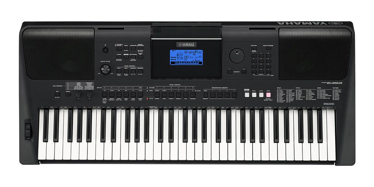 yamaha psr e453 61 key touch response digital keyboard. Black Bedroom Furniture Sets. Home Design Ideas
