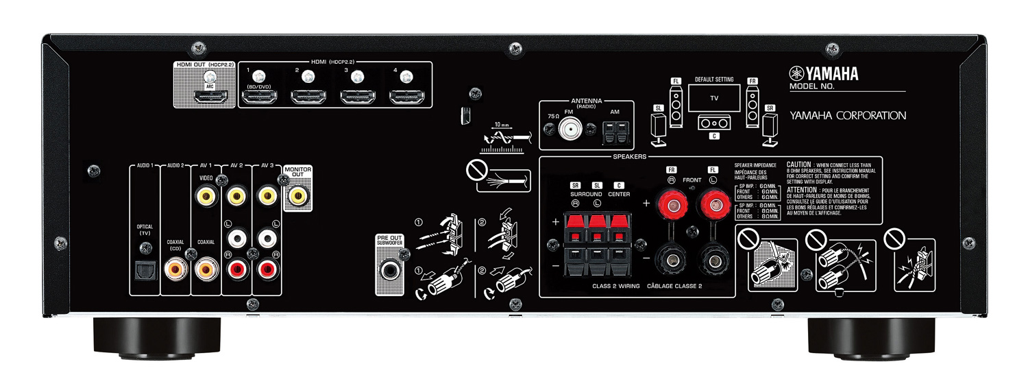Yamaha rx v383 5 1 av receiver with bluetooth for Yamaha receiver accessories