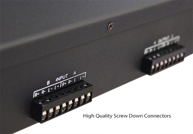 Power Pro Audio 9015 back panel close up