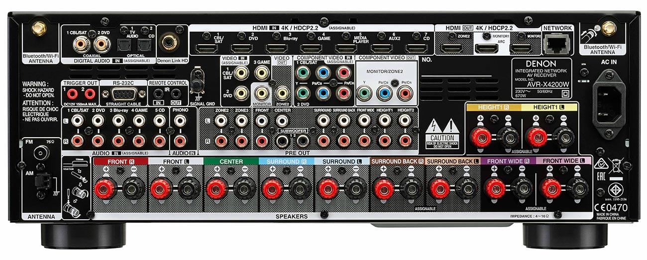 Buy Denon Avr X4200w 7 2 Channel 4k Ultra Hd Av Receiver
