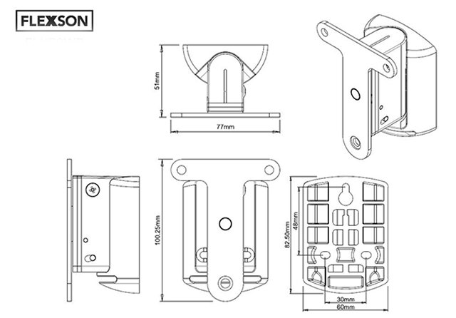 buy flexson black wall bracket for sonos play 3 speaker